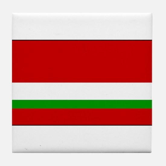 Tajikistan - National Flag - 1991-1992 Tile Coaste
