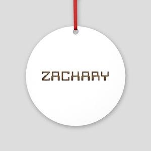 Zachary Circuit Round Ornament