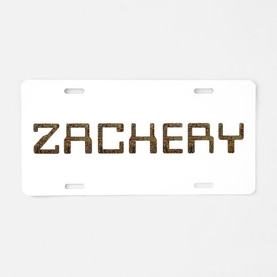 Zachery Circuit Aluminum License Plate