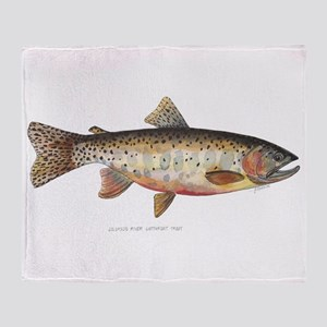 Colorado River Cutthroat Trout Throw Blanket