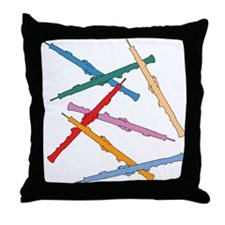 Colorful Oboe Throw Pillow