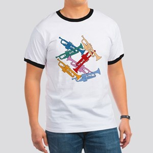 Colorful Trumpets Ringer T