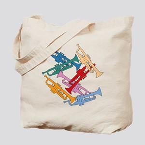 Colorful Trumpets Tote Bag