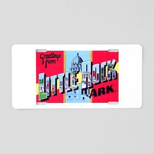 Little Rock Arkansas Greetings Aluminum License Pl