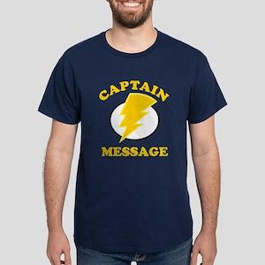 Personalized Super Hero Dark T-Shirt
