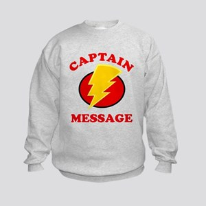 Personalized Super Hero Kids Sweatshirt