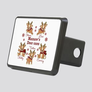 Custom deer grand kids Rectangular Hitch Cover