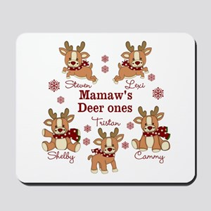 Custom deer grand kids Mousepad