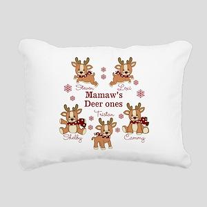 Custom deer grand kids Rectangular Canvas Pillow