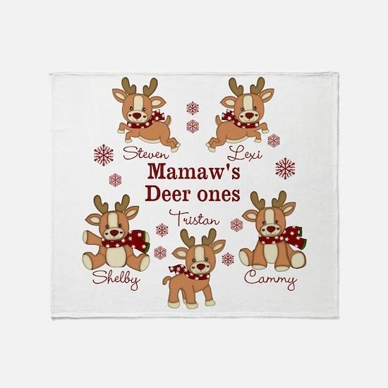 Custom deer grand kids Throw Blanket