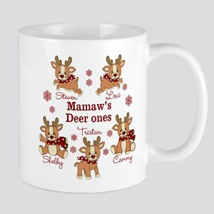 Custom deer grand kids Mug