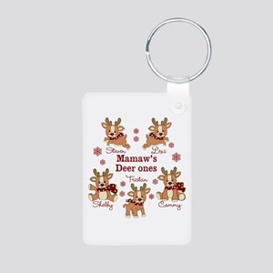 Custom deer grand kids Aluminum Photo Keychain