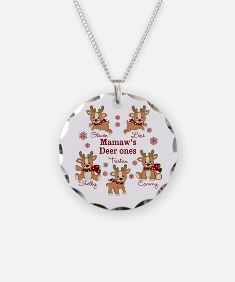 Custom deer grand kids Necklace