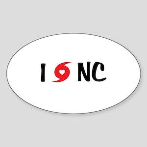 I LOVE NC Sticker (Oval)