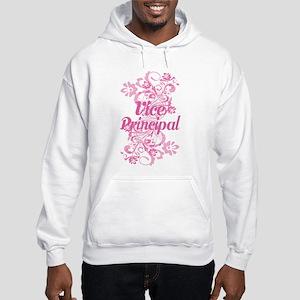 Vice Principal (Flowered) Hooded Sweatshirt