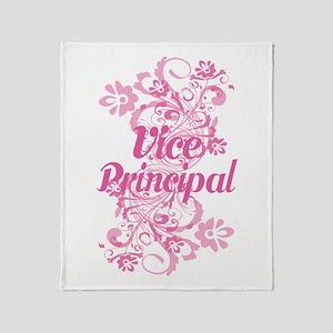 Vice Principal (Flowered) Throw Blanket