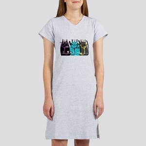 nurse cat NO BACKGROUND Women's Nightshirt