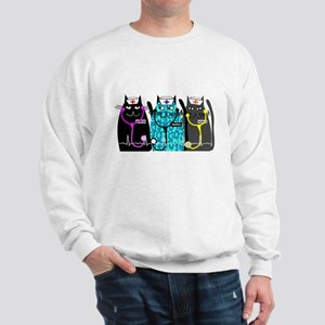 nurse cat NO BACKGROUND Sweatshirt