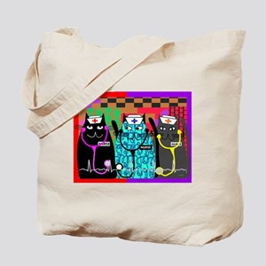 nurse cat blanket Tote Bag