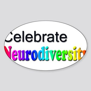 Celebrate Neurodiversity 2 Rectangle Sticker