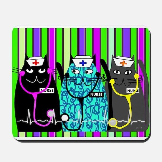 nurse cat blanket 2 stripes.PNG Mousepad