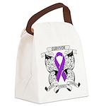 Survivor Pancreatic Cancer Canvas Lunch Bag