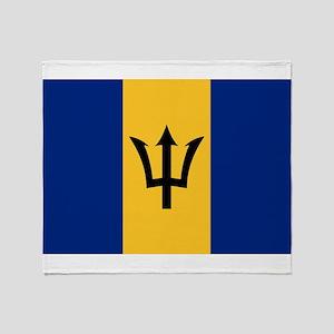 Barbados - National Flag - Current Throw Blanket