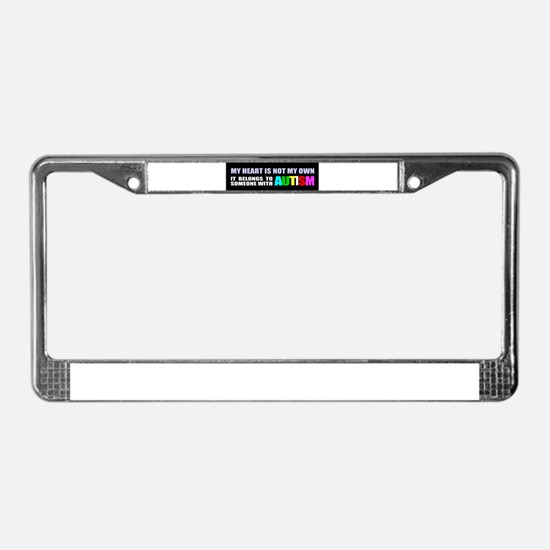 Autism awareness License Plate Frame