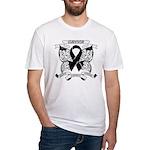 Survivor Strength Melanoma Fitted T-Shirt