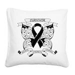 Survivor Strength Melanoma Square Canvas Pillow