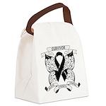 Survivor Strength Melanoma Canvas Lunch Bag