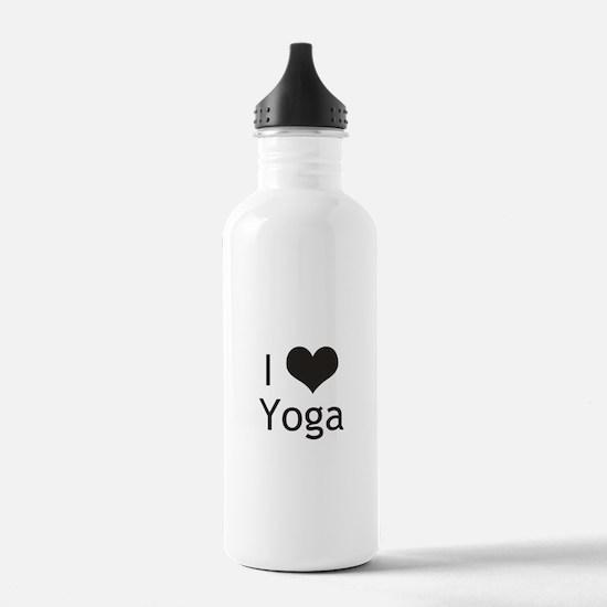 I Love Yoga Water Bottle