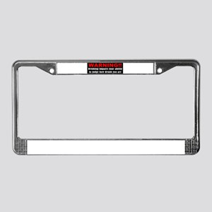 Funny drunk driving License Plate Frame