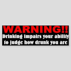 Funny drunk driving Sticker (Bumper)