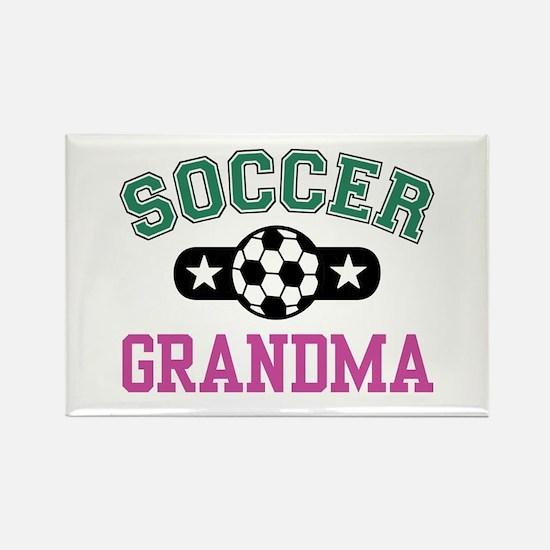 Soccer Grandma Rectangle Magnet