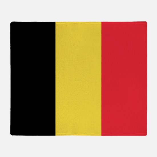 Belgium - National Flag - Current Throw Blanket
