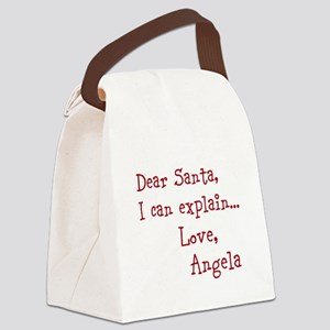 Dear Santa Custom Canvas Lunch Bag