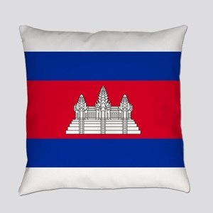 Cambodia - National Flag - Current Everyday Pillow