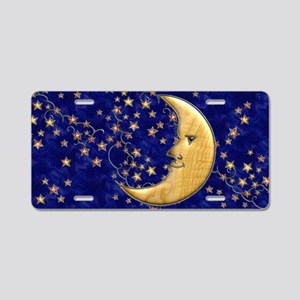 Harvest Moons Man in the Moon Aluminum License Pla