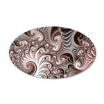 Fractal Swirls 35x21 Oval Wall Decal
