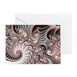 Fractal Swirls Greeting Card