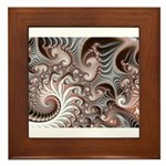Fractal Swirls Framed Tile