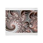 Fractal Swirls Throw Blanket