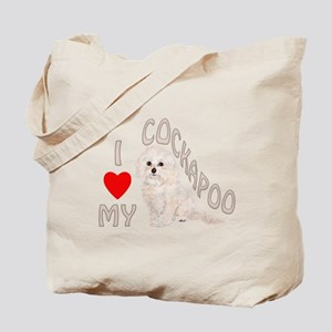 I Love My Cockapoo Tote Bag