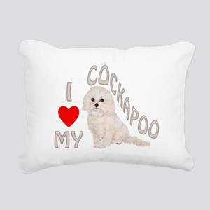 I Love My Cockapoo Rectangular Canvas Pillow