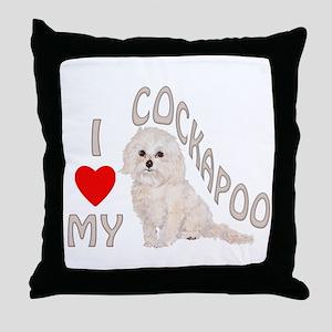 I Love My Cockapoo Throw Pillow