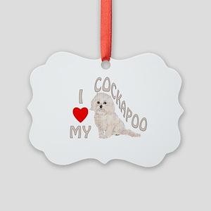 I Love My Cockapoo Picture Ornament