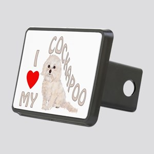 I Love My Cockapoo Rectangular Hitch Cover