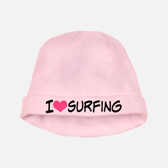 I Heart Surfing baby hat