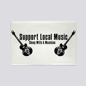 Support Local Music Rectangle Magnet